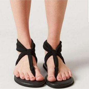 Sanuk Yoga slingback sandals black